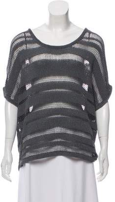 Rag & Bone Knitted Short Sleeve Top