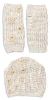 Portolano Two-Piece Embellished Beanie & Gloves Set