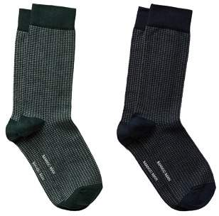 Mango Man MANGO MAN 2 pack houndstooth socks