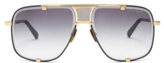 Dita Eyewear Machn Five Gold Plated Titanium Sunglasses - Mens - Gold
