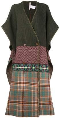 Antonio Marras checked oversized knit poncho a