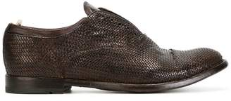 Officine Creative woven laceless oxford shoes