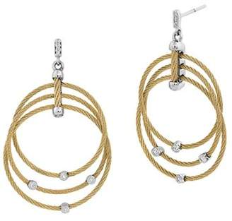 Alor Yellow Cable Drop Earrings