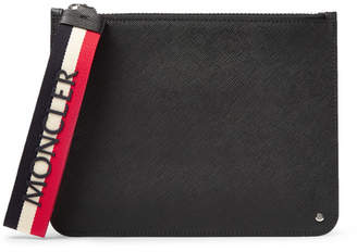 Moncler Small Cross-Grain Leather Pouch