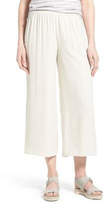 Eileen Fisher Silk Wide Leg Crop Pants
