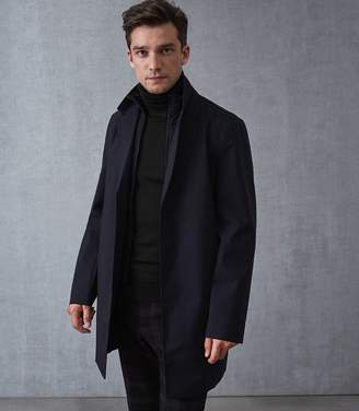 Reiss KURGAN Mac With Gilet Insert Navy