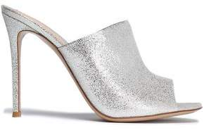 Gianvito Rossi Metallic Leather Mules