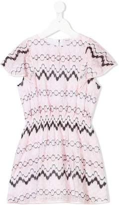 Missoni Kids zig-zag print dress