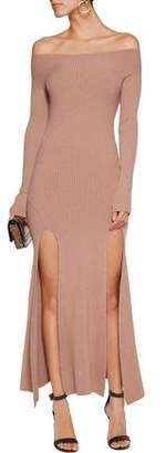 See by Chloe Off-The-Shoulder Stretch-Knit Midi Dress