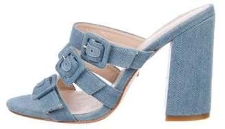 Raye Denim Slide Sandals