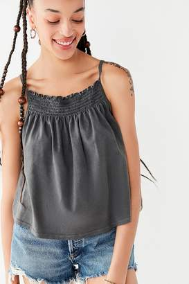 Truly Madly Deeply Smocked High-Neck Tank Top