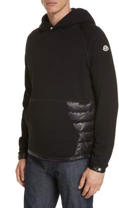 Moncler Maglia Quilted & Knit Hoodie