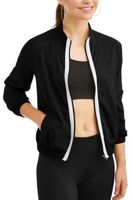 35c737e6a Contrast Striped Bomber Jacket - ShopStyle