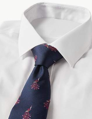 Marks and Spencer Pure Silk Peacock Tie