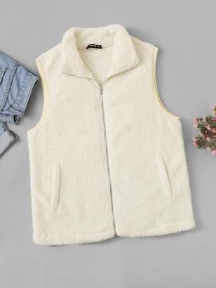Shein Zip Up Teddy Vest