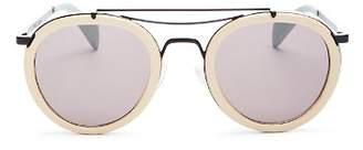 Rag & Bone Men's 9001 leather wrap sunglasses