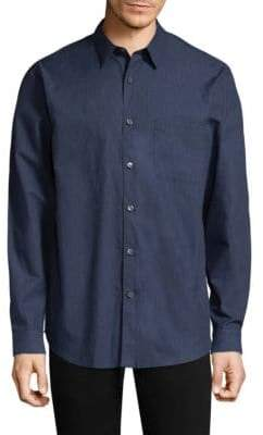Theory Rammy Cotton Casual Button-Down Shirt