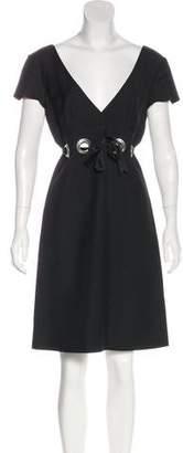 Chloé Short Sleeve Knee-Length Dress