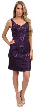 Sue Wong - Sweetheart Applique Short Dress in Purple Cocktail Dress $563 thestylecure.com
