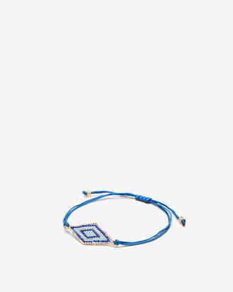 Express Blue Beaded Pull-Cord Bracelet