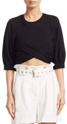 3.1 Phillip Lim Twisted Cropped Tee