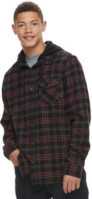 Vans Men's Hooded Button-Down Shirt