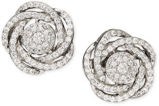 Wrapped in Love Diamond Earrings, 14k White Gold Diamond Pave Knot Earrings (1 ct. t.w.)