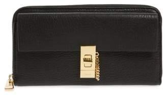 Chloé 'Drew' Calfskin Leather Zip Around Wallet