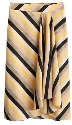 MANGO Multicolor striped skirt