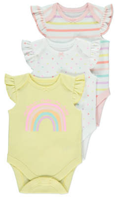 George Assorted Bodysuits 3 Pack