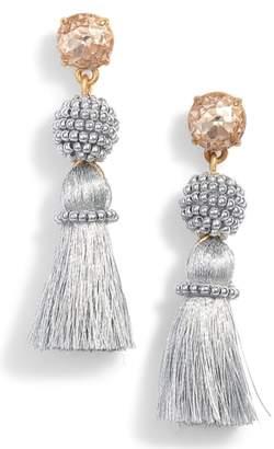 J.Crew Bead & Tassel Drop Earrings