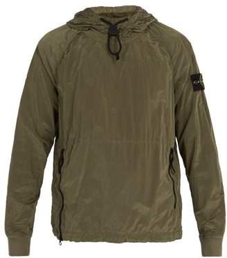Stone Island - Lightweight Crinkled Hooded Jacket - Mens - Khaki