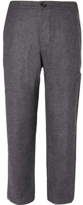 Judo Tapered Mélange Brushed-Wool Trousers
