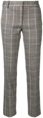 Theory checked cropped trousers