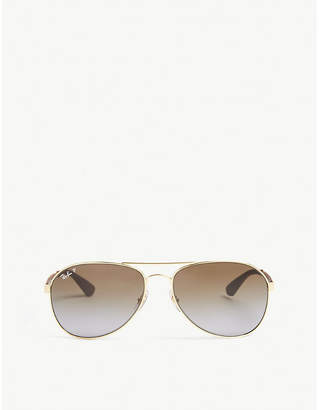 Ray-Ban RB3549 pilot-frame sunglasses