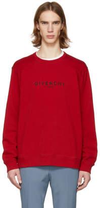 Givenchy Red Vintage Logo Sweatshirt
