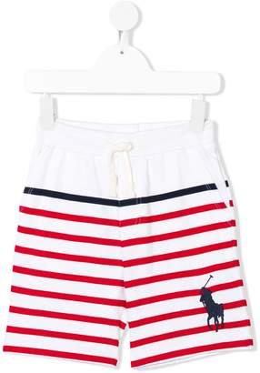 Ralph Lauren Kids striped track shorts