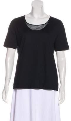 Akris Punto Short Sleeve Scoop Neck Shirt
