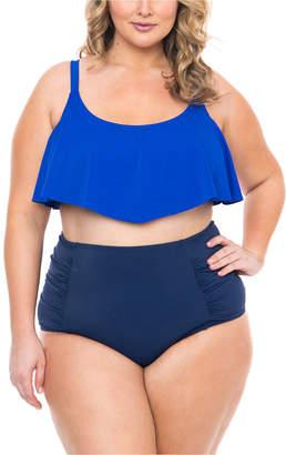 Boutique + + Flounce Swimsuit Top-Plus