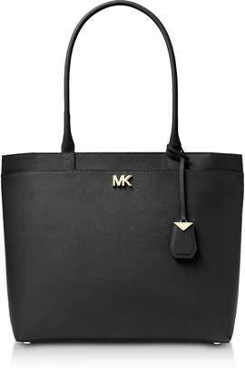 Michael Kors Maddie Large Crossgrain Leather Tote