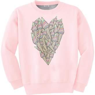 ICECREAM Aloha From Deer - Ice-Cream Heart Sweater