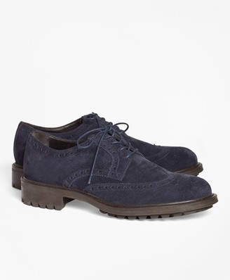 Brooks Brothers 1818 Footwear Suede Wingtips