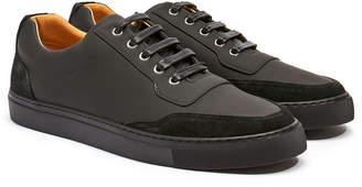 Harry's of London Mr Jones 2 Tech Leather & Kudu Black Trainer