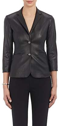 The Row Women's Essentials Nolbon Leather Jacket - Black