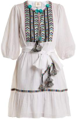 Figue Svana geometric-embroidered cotton dress