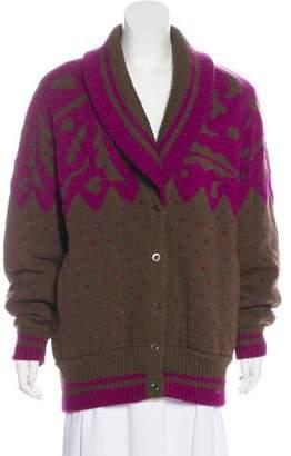 Issey Miyake Wool-Blend Knit Cardigan