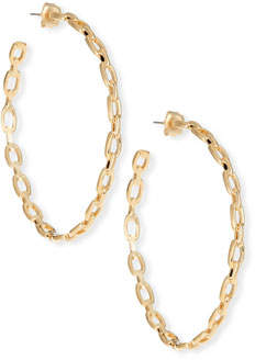 Jennifer Zeuner Jewelry Carmine Medium Link Hoop Earrings