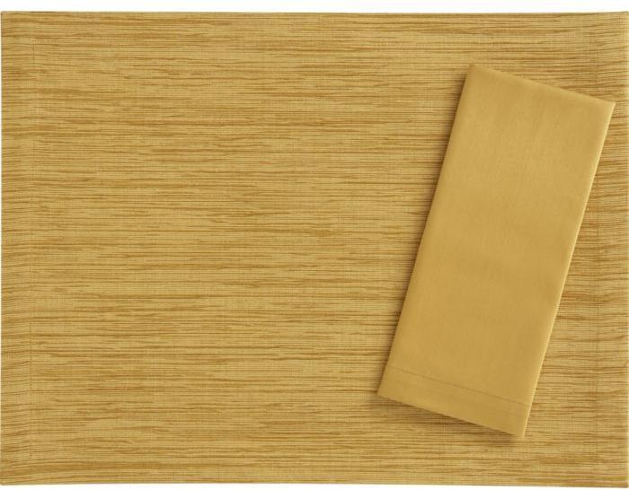 Grasscloth Butterscotch Placemat/Cotton Butterscotch Napkin