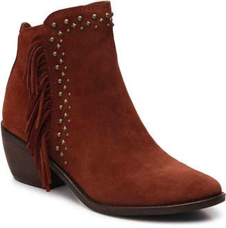 Lucky Brand Kaarina Western Bootie -Rust - Women's