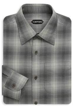 Tom Ford Gingham Cotton Dress Shirt